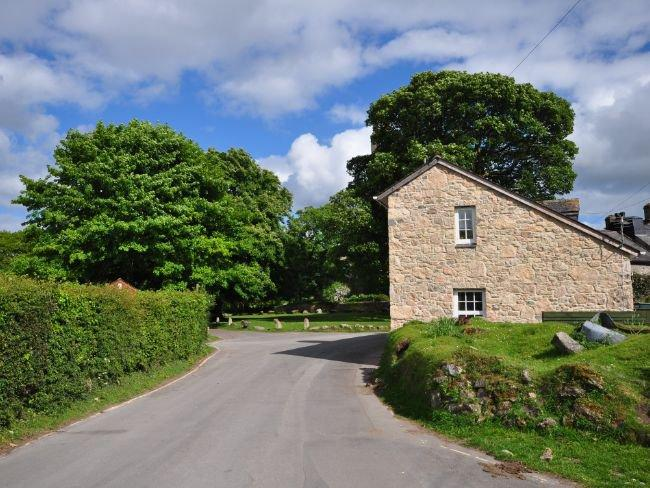 View towards the property and village green - WIDHA - Widecombe in the Moor - rentals