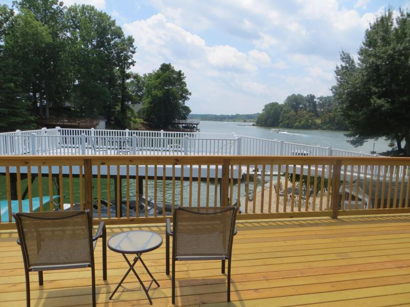 Island view from dock - 4 BR Claytor Lake on a quiet cove, sleeps 8 - Blacksburg - rentals