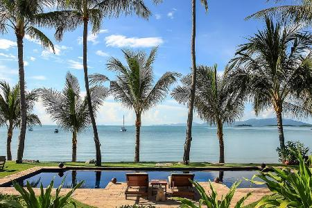 Ban Haad Sai - Large Beachside Villa with Pool and Spectacular Sea Views - Image 1 - Koh Samui - rentals