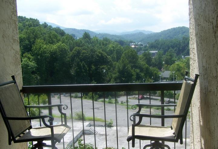 Private Balcony with View of Downtown Gatlinburg - #403  Gatlinburg Chateau  - 2 Bedroom Condo - Gatlinburg - rentals