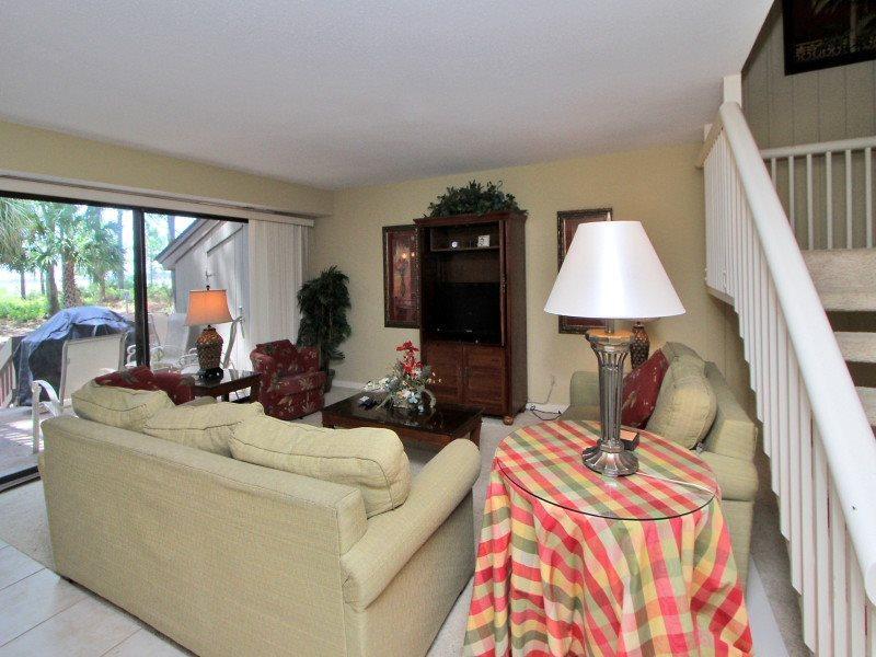 Living Room at 1414 South Beach Villa - 1414 South Beach Villa - Sea Pines - rentals
