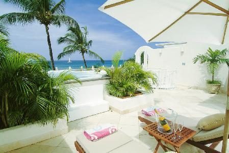 Reeds House no13 - Beachfront penthouse on Reed's Bay with sea views and private roof deck - Image 1 - Reeds Bay - rentals