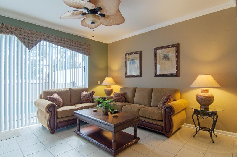 Living Room - Stunning Villa at the Windsor Hills Resort, 2 miles to Disney - Kissimmee - rentals