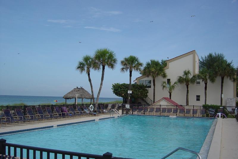 Large Heated Pool, Deck and Chairs for Enjoying Gulf View - Gulf Breezes, Soft Sand! Your Place on the Beach - Longboat Key - rentals