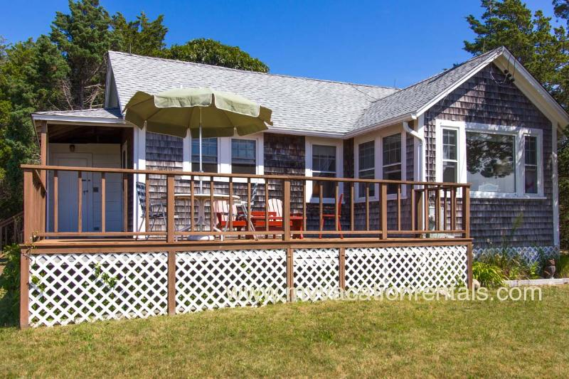 Deck and House with Gorgeous Waterviews - ADELM - Waterfront Lagoon, Deck with Gorgeous Sunset Views, WiFi - Oak Bluffs - rentals