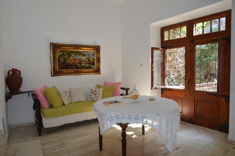 Entrance floor - living room - MOLIVOS TOWER - traditional stonehouse villa 1750's - Molyvos - rentals