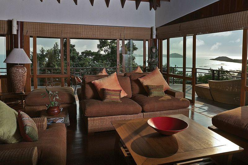 Living Room - Elegant Villa with Soaring Ocean Views! - Koh Samui - rentals