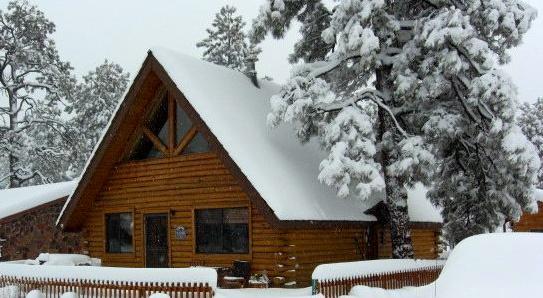Winter snow - Log Cabin in Munds Park - Munds Park - rentals
