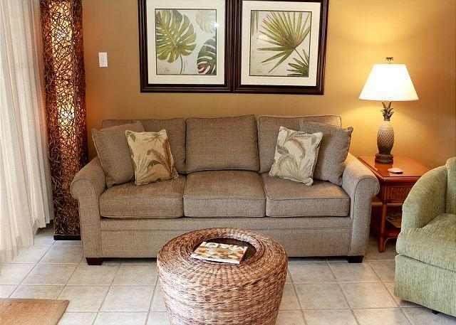 Living Room - Kihei Kai Nani #116 - Across the Street from the Beach. $89 SUMMER SPECIAL - Kihei - rentals
