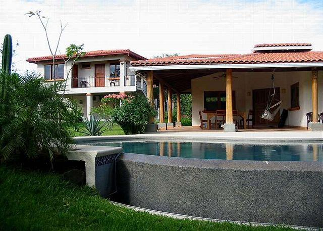 Full view - Comfortable home- walk to beach, cable tv, kitchen, a/c, private pool - Tamarindo - rentals