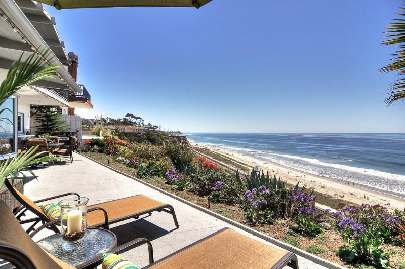 Stunning blue San Clemente ocean views! Imagine resting, reading right here! - 5 bed Ocean view home on bluff over beach. - San Clemente - rentals