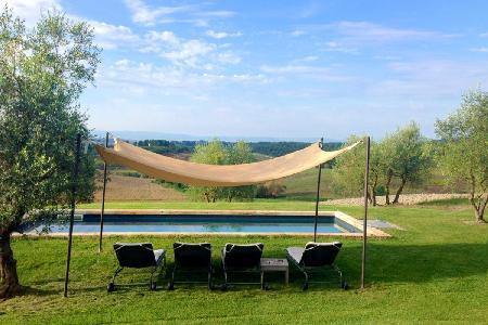 Charmingly restored La Bianca on private farming estate- private heated pool & garden - Image 1 - Siena - rentals