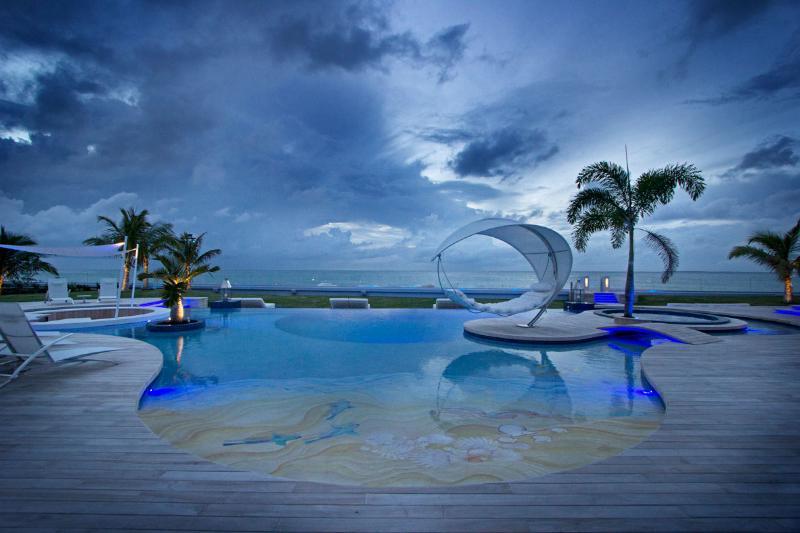 C'est La Vie...Plum Bay Beach, St Martin 800 480 8555 - C'EST LA VIE...  WOW!! Spectacular new 6 BR beachfront beauty on Plum Bay,Terres Basses - Terres Basses - rentals