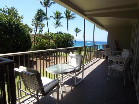 Ocean view from this second floor condo that is popular with families - Whaler 259 - 1BR/1BA  Partial OV 7th Nt free Spcl - Lahaina - rentals