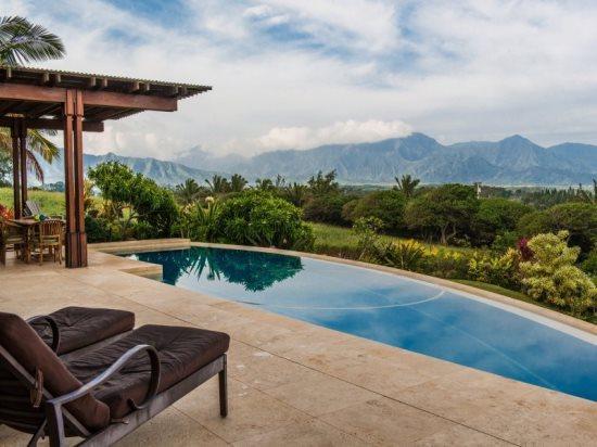 Pool - Nani Kai - Luxury home with Bali Hai ocean views from every room, infinity pool and hot tub. - Kilauea - rentals