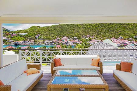 Group-friendly villa La Pointe overlooks the harbor with pool & daily maid - Image 1 - Gustavia - rentals