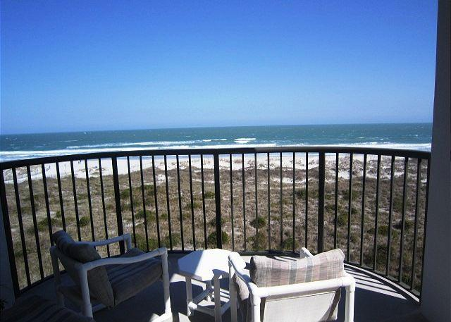 View from the Covered Deck - DR 2409 -  Enjoy the pool, tennis and the beach from this oceanfront condo - Wrightsville Beach - rentals