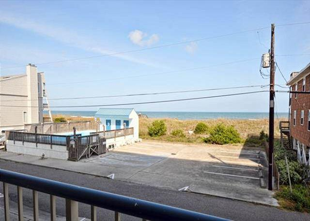 View From Covered Deck - In Paradise- Ocean view condo at Paradise Towers w/ pool and easy beach access - Carolina Beach - rentals