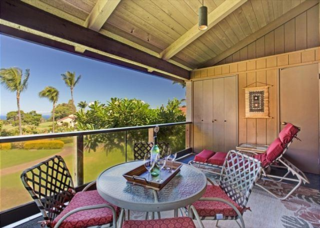 Lanai with Ocean and Golf Course Views! - Idyllic Waikoloa Retreat with Ocean View: Easy Access to Sun, Sand, Sport!-WVD200 - Waikoloa - rentals