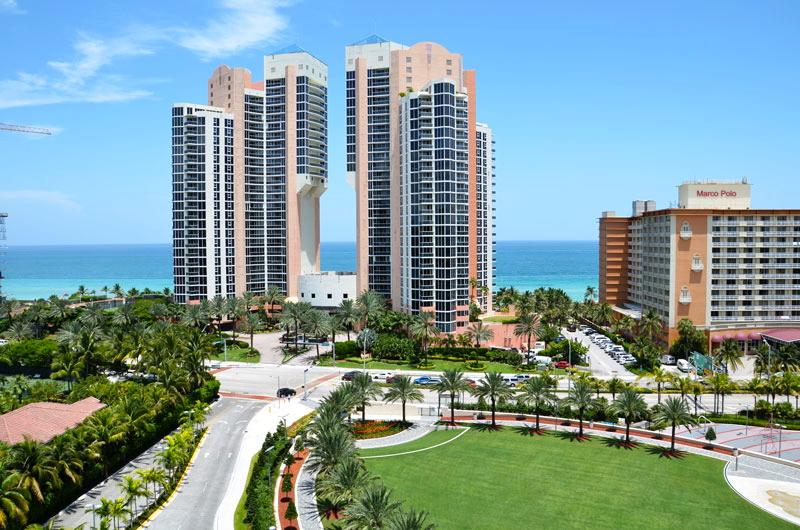 Ocean View from Balcony - Deluxe 2 Bedroom Ocean View OR1427 ! - Sunny Isles Beach - rentals