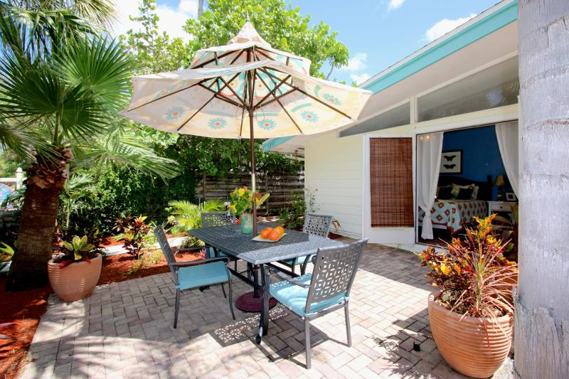 Westerly Patio - private off master just one half block to beach - OUR TOP LOCATION! Gertrude's Village House - Siesta Key - rentals