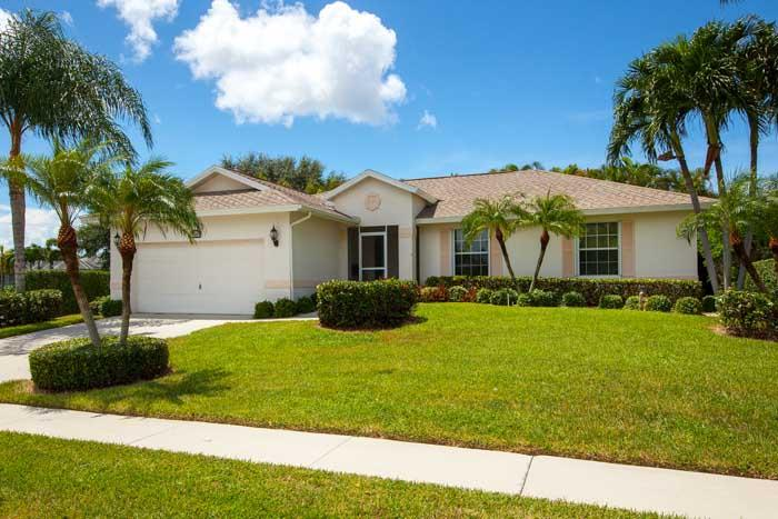 Front of Home - Delbrook Way - DEL130 - Lovely Pool & Spa Home! - Marco Island - rentals