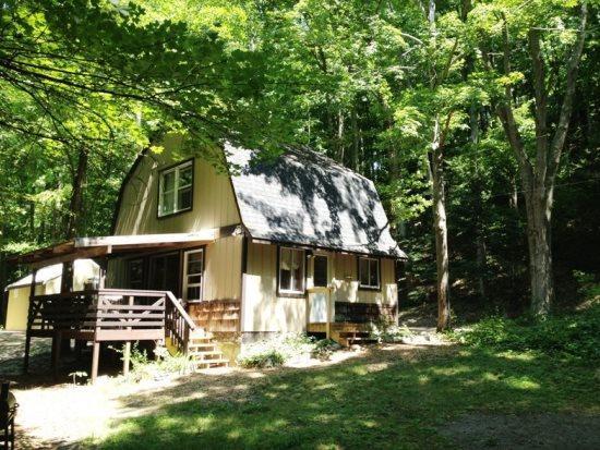 Front View - Hidden River Cabin! - Hessel - rentals