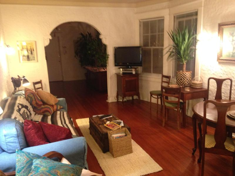 Living Room - Tropical balcony on Canal Streetcar Line near FQ - New Orleans - rentals