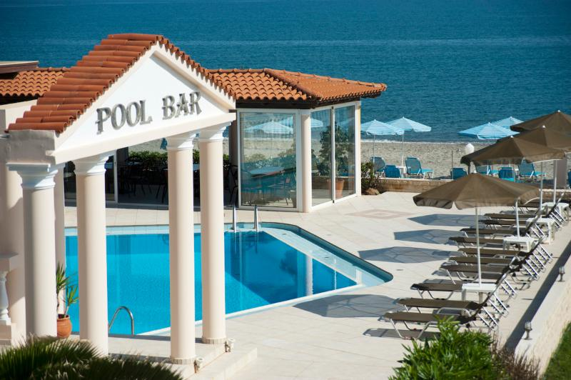 Pool area - Caretta Beach Apartment with pool on beach - Platanias - rentals