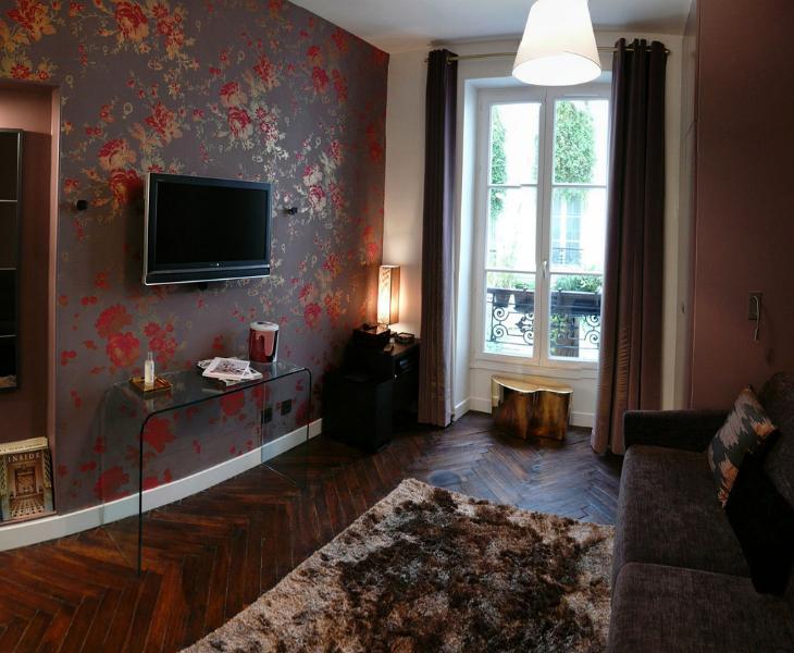 www.great-apartment-paris.com - living room - Central, luxury designer apartment. Free wi-fi! - Paris - rentals