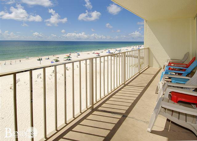 Balcony - Gulf Village 417~All Bedrooms with Balcony Views~Bender Vacation Rentals - Gulf Shores - rentals