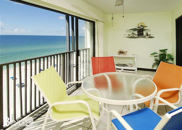 Glass Enclosed Balcony - Inviting Views of the Gulf ~ Bender Vacation Rentals - Gulf Shores - rentals