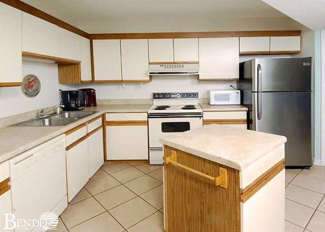 Kitchen Area - Gulf Village 417~All Bedrooms with Balcony Views~Bender Vacation Rentals - Gulf Shores - rentals