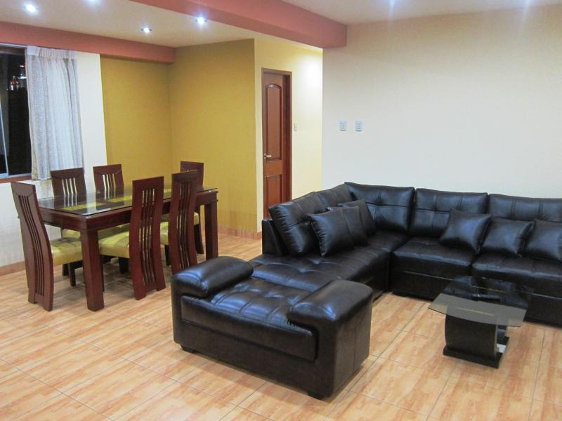 Living and dining room - Luxury apartment 115 sqm - Huanchaco - rentals