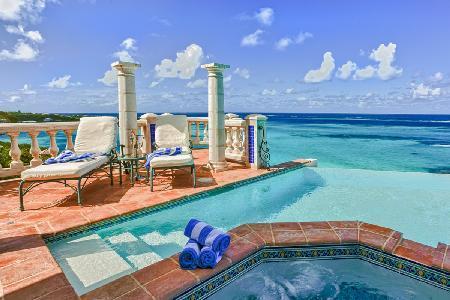Waterfront Villa Azure with vanishing edge pool, six decks & steps to the sea - Image 1 - Shoal Bay Village - rentals