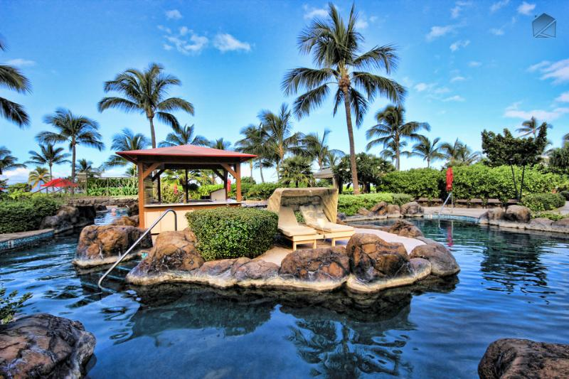 Swim, splash, sleep and suntan out at the River pool - one of 4 pools at Honua Kai - Low Rates and No Construction View! Luxury One Bedroom! - Nani Lani at 438 Konea - Ka'anapali - rentals