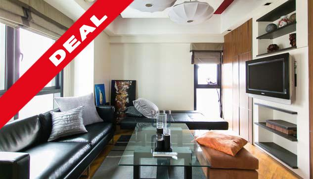 The sun comes from 2 sides, the unit being a corner unit - ROCKWELL MODERN ASIAN 1BR APARTMENT w/ PARKING - Makati - rentals