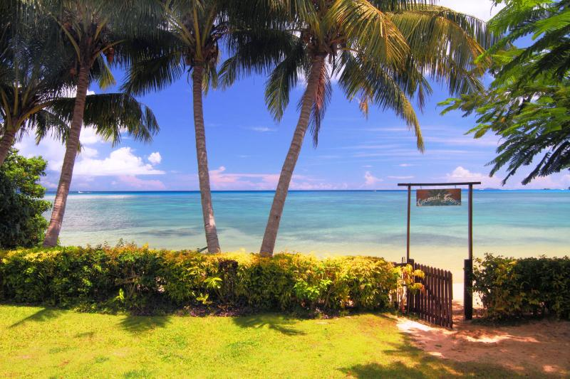 Your private beach is right thru the gate, 12 steps from your cottage - Coconut Grove Beachfront Cottages - Taveuni Island - rentals