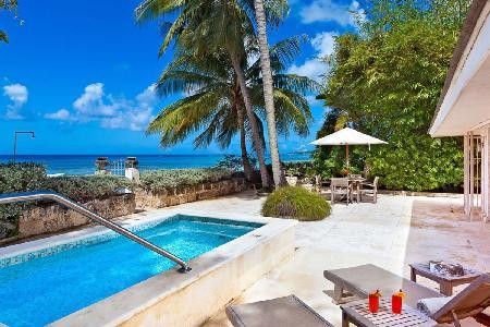 Enchanting oceanfront Leamington Cottage with divine views & plunge pool - Image 1 - Speightstown - rentals