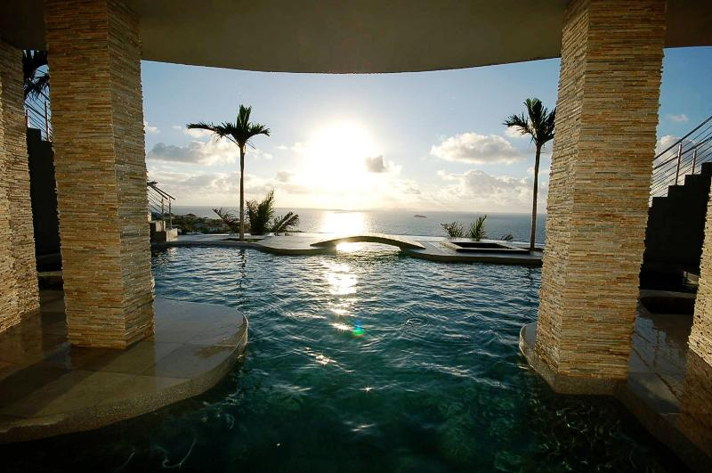 Villa Deseo gorgeous sunrise! - DESEO... WOW!  Stunning new contemporary villa for a remarkably affordable price!!! - Oyster Pond - rentals