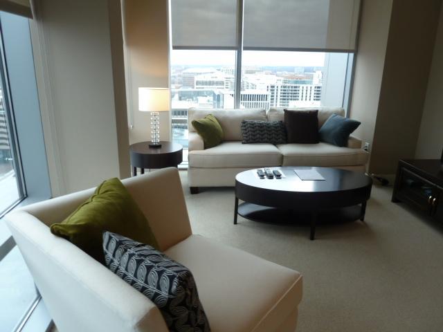 Living room - Lux 2BR Crystal City Apt w/pool - Arlington - rentals