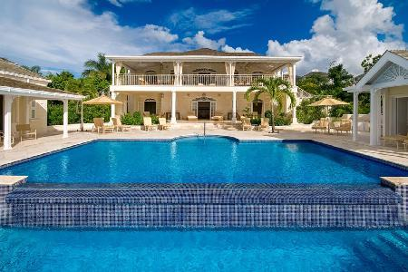 Ocean view Monkey Business at Sugar Hill, lush grounds with 2 tiered infinity pool - Image 1 - Barbados - rentals