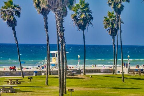 Ocean view from the bedroom window - Denise's Beach Retreat, South Mission Beach - Pacific Beach - rentals