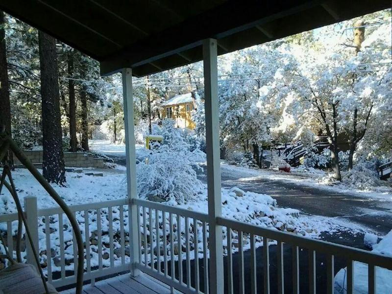 View from front of Cabin after a snow storm - Cozy Cabin w/Spa/ Walk to Sled Hill-SALE!! - Sugarloaf - rentals