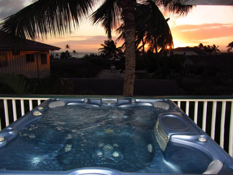 Imagine sitting in your private hot tub as you watch the sun setting on Poipu Beach - 2Bdrm/2Ba w/Ocean Views+Hot Tub-WalkTo Sandy Beach - Poipu - rentals