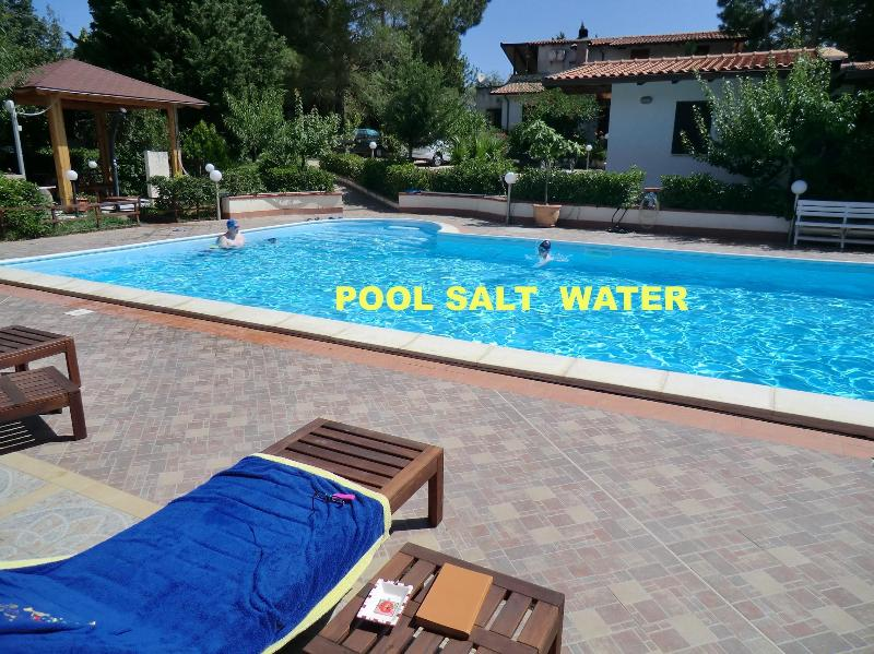 POOL SALT WATER - NATURAL CHLORINE - SWEET HOME Pool Salt Water, special price 2 people - Balestrate - rentals