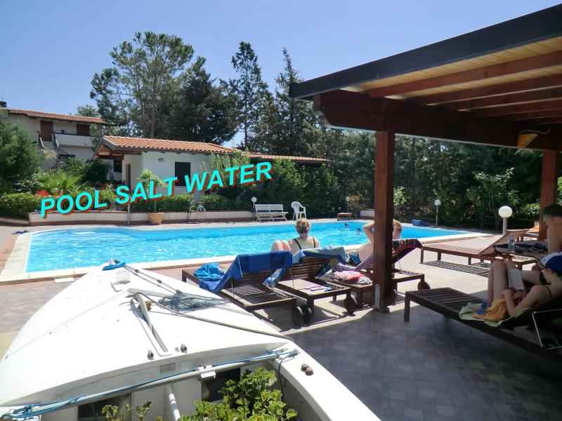 POOL SALT WATER AND NATURAL CHLORINE - Emerald Home, Pool Salt Water, Sea, Sandy Beaches - Balestrate - rentals