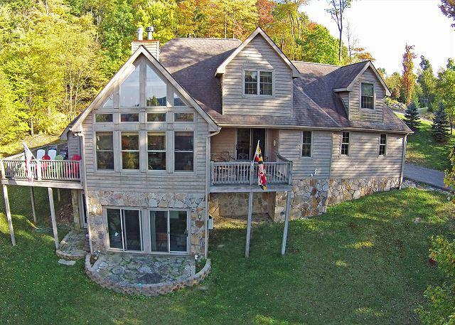 Exterior - Amazing 4 Bedroom Mountain Chalet w/ Hot Tub & Lake Views! - McHenry - rentals