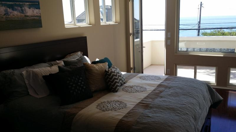 King Bed in Master with views, and private patio - 3370 sq ft Luxury Home, Oceanfront Street, Jacuzzi - Encinitas - rentals