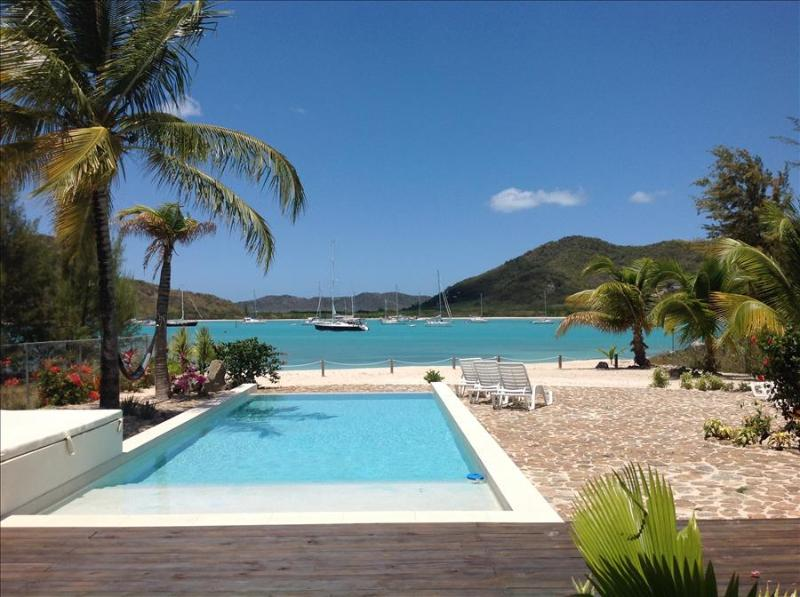 Out of the Blue Beach House - Jolly Harbour, Antigua - Beachfront, Gated - Image 1 - Jolly Harbour - rentals